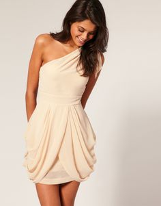 Love this one shoulder dress