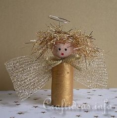 Make little angel crafts for Christmas using wine corks. This Precious Golden Wine Cork Christmas Angel can sit on a table or be hung as a homemade Christmas ornament on your tree. Angel crafts remind us why we celebrate Christmas.