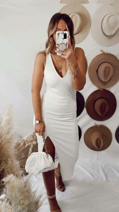 Hat Outfits, Casual Outfits, Fashion Outfits, Stylish Summer Outfits, Cute Fashion, Fasion, Passion For Fashion, Spring Summer Fashion, Neutral Style
