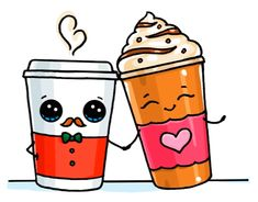Frappuccino and hot coffee kawaii doodles, cute doodles, best doodles, cute food drawings Cute Food Drawings, Cute Kawaii Drawings, Kawaii Doodles, Cute Doodles, Kawaii Art, Cartoon Art, Cute Cartoon, Cartoon Illustrations, Cartoon Characters