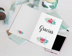 Tarjeta de agradecimiento imprimible. Thank you card, tarjeta de gracias. Tarjeta sencilla y bonita imprimible. Tarjeta personalizada. #Thankyoucard #TarjetaGracias #Agradecimiento #gracias