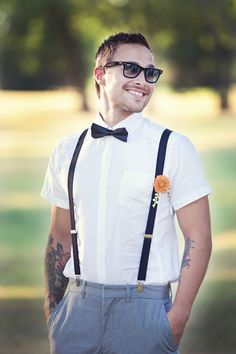 Shabby Chic Wedding grooms attire