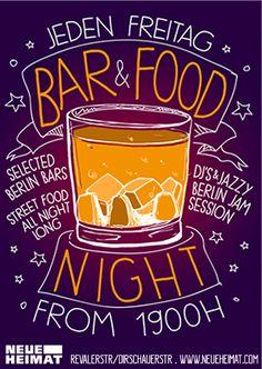 Neue Heimat Bar&Food Night, jeden Freitag ab 20.00 Uhr, berlin
