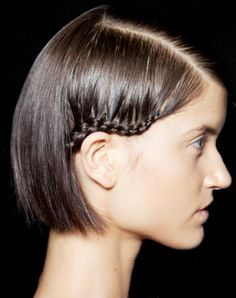 Learn how to wear braids on short hair.