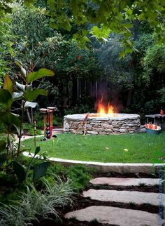 Modelos de Lareira Externa para seu Jardim - Estância Construções