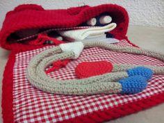 Le thermomètre,  modèle du livre Mes petites bricoles au crochet d'Isabelle Kessedjian
