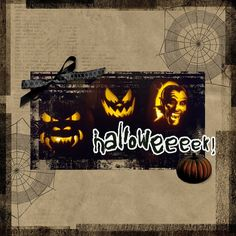 Halloweeeek! Pumpkins by Shannon Maguire | Pixel Scrapper Digital Scrapbooking | Halloweeeek! Kit by Melo Vrijhof Spooky Scary, Halloween Spider, Jack O, Scrapbook Layouts, Superhero Logos, Pumpkin Carving, Pumpkins, Digital Scrapbooking, Black And Brown