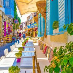 """""""#Alacati streets are so picturesque """""""