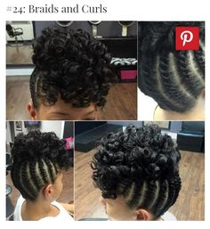 flat top haircut side part sew in with leave out braid pattern naptural 9438
