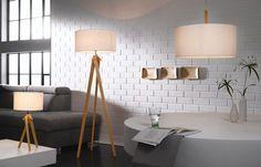 Ein Muss in der skandinavischen Einrichtung: weißer Lampenschirm, Holzfüße und warmes Licht!: