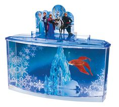 Disney frozen betta fish tank plastic aquarium kit with for How to make ice in a fish tank