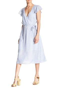 9d2d0f7127bc Striped Faux Wrap Dress by Spirit of Grace on  nordstrom rack Faux Wrap  Dress