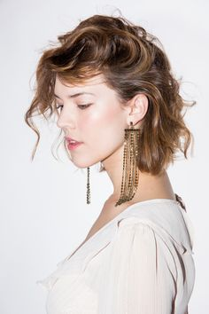 Festive and perfect for dressing up or giving that little extra to your casual outfit. Brass Fringe Earrings - Mod and Soul -Ettika Jewelry