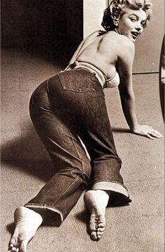MM. it's very rare to find her in jeans!