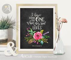 Welcome to ArtCult, printable wall art designs.  I have found the One whom my soul loves Song of Solomon 3:4 - Printable artwork.
