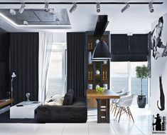 Whoever said that homes decorated exclusively in black and white have to be minimalistic? Even without vivid and exuberant colors, there are still plenty of oth
