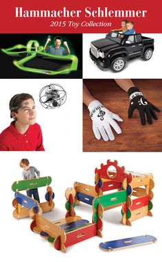 Hammacher Schlemmer's 2015 Toy Collection featuring unique toys and gifts for children of all ages.