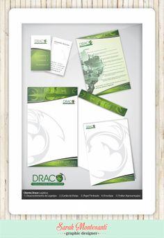 Cliente: Draco Logística Desenvolvimento de Logotipo | Cartão de Visitas | Papel Timbrado | Envelope | Folder para divulgação da empresa (versão impressa e digital)