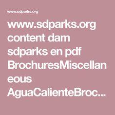 www.sdparks.org content dam sdparks en pdf BrochuresMiscellaneous AguaCalienteBrochure.pdf