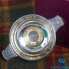MacLeod Clan Crest Quaich