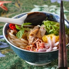 Asam Laksa by justasdelish: Spicy sour fish broth noodles. Voted 7th out of 50 most delicious food in the world in CNN poll.  #Fish #Noodles