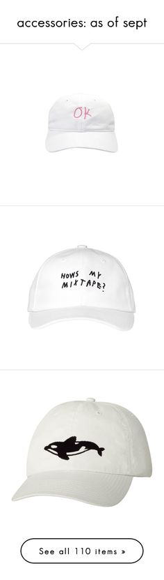 """""""accessories: as of sept"""" by citizensofearth ❤ liked on Polyvore featuring accessories, hats, fillers, white, caps hats, white hat, white cap, acc, orca and jewelry"""