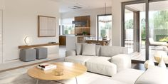 Find home projects from professionals for ideas & inspiration. Projekt domu HomeKONCEPT 36 by HomeKONCEPT Living Room Decor Country, Living Room Decor Colors, Best Living Room Design, Cozy Living Rooms, New Living Room, Living Room Interior, Home And Living, Hall Design, New House Plans