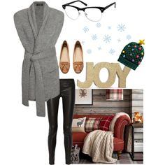 A Cozy Holiday by zennioptical on Polyvore featuring Christopher Fischer, Helmut Lang, H&M and Boohoo