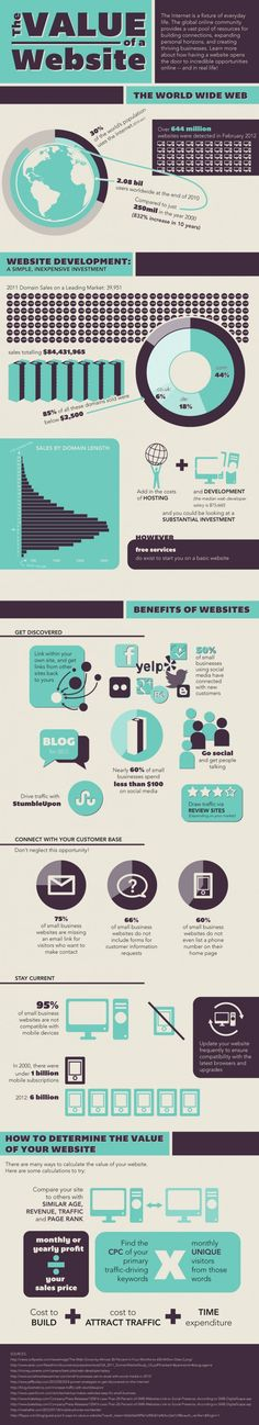 The Value of a Website Infographic