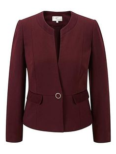 CC Berry Ribbed Ponte Jacket, was £149.00, now £34.65 - UK size 10 only