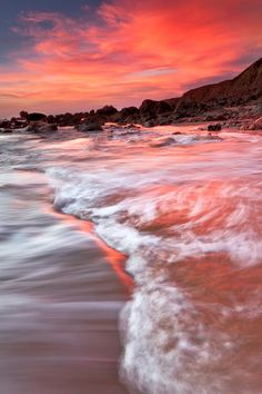~~Changing Directions, Bodega Bay, California | pink sunset and lapping waves of the Pacific Ocean by jared ropelato~~