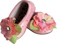 Dreamy Satin Ballet Slippers.  These are so expensive I cannot even post the price - but they are so cute.