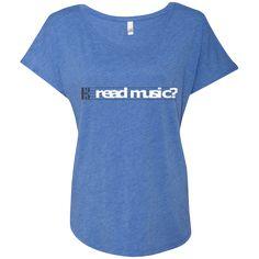 Read Music Alto Clef Ladies Dolman Sleeve Shirt