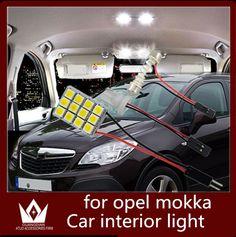 Guang Dian 6pcs car led light interior light Kit Reading light Roof Lamp Dome bulb for opel mokka accessories 2012-2015