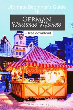 How to Have the Best German Christmas Markets Experience + free Guide - Travel on the Brain Christmas Market Stall, German Christmas Markets, Holiday Market, Christmas Travel, Christmas Vacation, Danish Christmas, Christmas Shopping, Christmas In Germany, Christmas Markets Europe