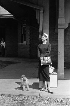 Audrey during the filming of Sabrina New York 1954