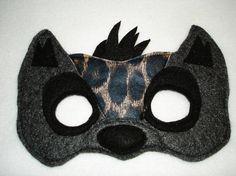 Children's HYENA Felt Mask by magicalattic on Etsy, $12.50