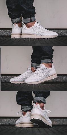 #Asics GT II #White #Leather