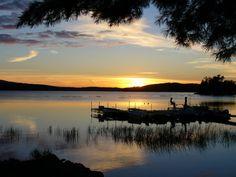 Tupper Lake, NY : Tupper Lake at night