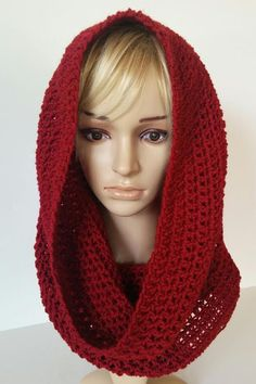 Crocheted over sized cowl hooded cowl knitted by ChildCrochet, $19.00
