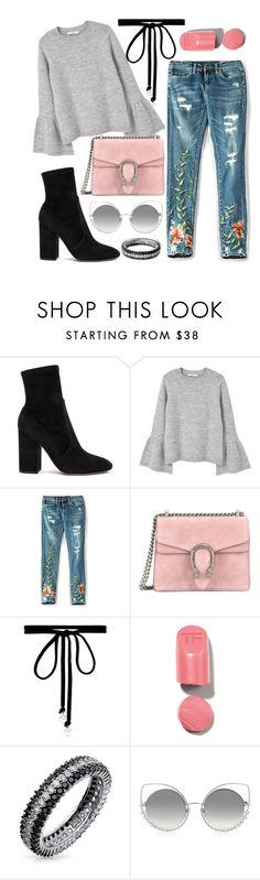 """""""Untitled #610"""" by hadar777 ❤ liked on Polyvore featuring Valentino, MANGO, BLANKNYC, Gucci, Joomi Lim, Bling Jewelry and Marc Jacobs"""