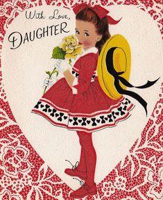 He encontrado este interesante anuncio de Etsy en https://www.etsy.com/es/listing/176088281/vintage-1960s-with-love-daughter