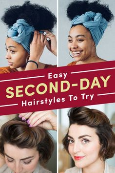 21 Easy Second Day Hairstyles You Can Do In Five Minutes 21 Easy Second Day Hairstyles You Can Do In Five Minutes Tomorrow Morning Just Got Easier 21 Easy Second Day Hairstyles You Can Do In Five Minutes Second Day Hairstyles, Work Hairstyles, Headband Hairstyles, Pretty Hairstyles, Straight Hairstyles, Braided Hairstyles, Headband Hair Tuck, Quick Curls, Easy Overnight Curls