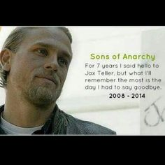 One of the best tv shows ever! Love Jax Teller. Miss SOA!!!