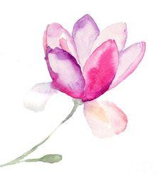 Magnolia Painting by Regina Jershova