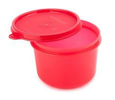 (25% off) Signoraware Executive Round Big Plastic Container, 450ml, Deep Red