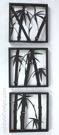 Ashbee Design Silhouette Projects: 3-D Bamboo Shadow Box • Silhouette Tutorial