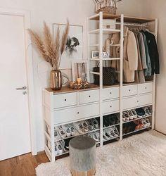 Image about style in Interior Design by Minnie Todd Bedroom Closet Design, Bedroom Decor, Elvarli Ikea, Entry Organization, Cute Room Ideas, My New Room, Apartment Design, Home Decor Inspiration, Interior Design
