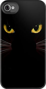 Black Cat Iphone & iPod covers by sandnotoil