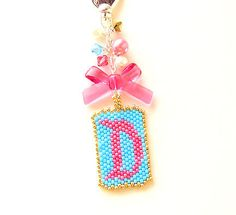 Disneyland Style Font Letter D Purse Bag Zipper Pull Charm Disney Jewelry by MigotoChou, $25.00